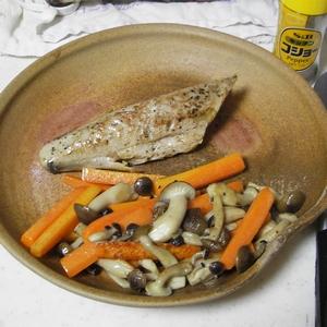 カツオのニンニクオリーブ油焼き